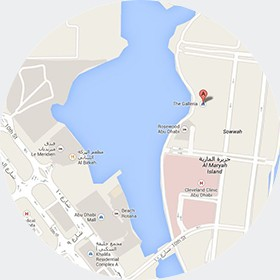 The Galleria Boutique on Al Maryah Island in Abu Dhabi Map