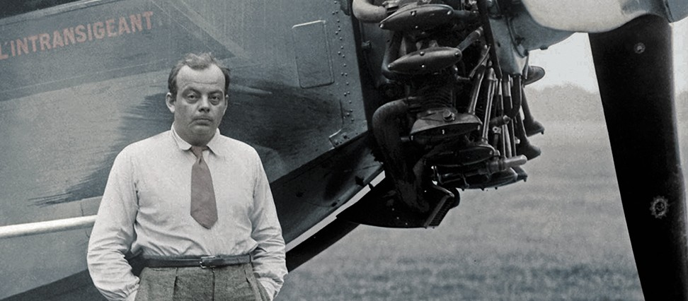 Antoine de Saint Exupery in front of plane
