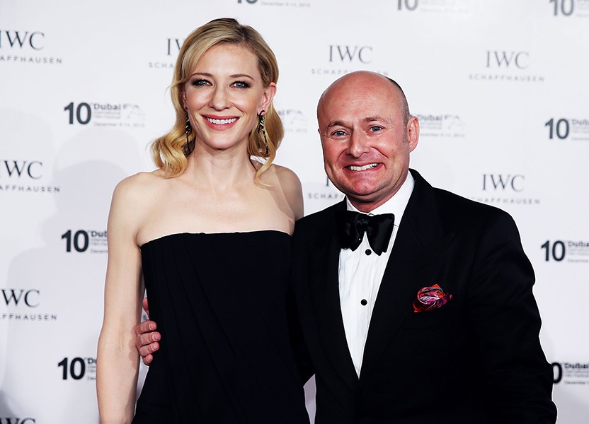 IWC Friend of the Brand and Head of the Jury Cate Blanchett and IWC CEO Georges Kern
