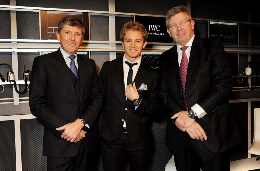 Nick Fry, Nico Rosberg and Ross Brawn
