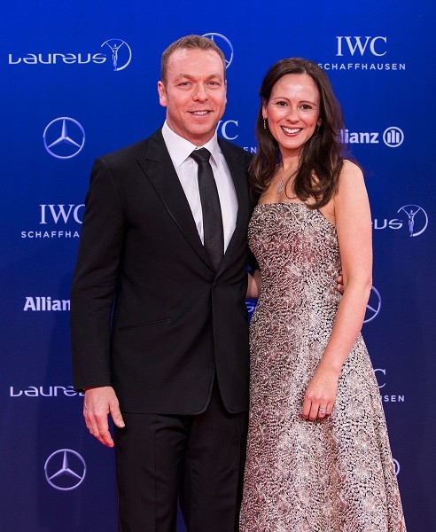Sir Chris Hoy and wife