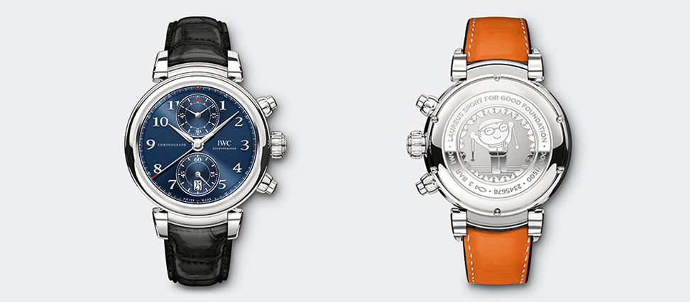 "IWC DA VINCI CHRONOGRAPH  EDITION ""LAUREUS SPORT FOR GOOD FOUNDATION""  IW393402 women's fashion watches"
