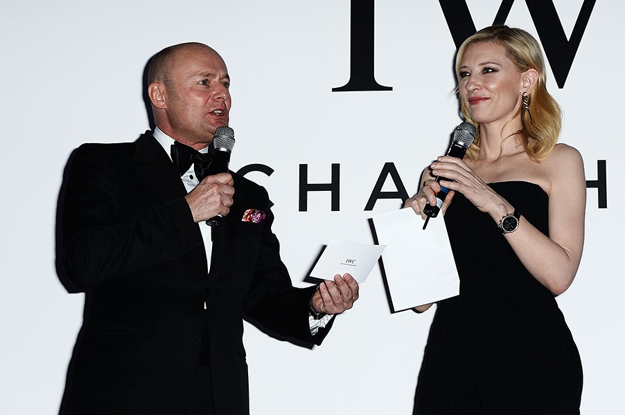 IWC CEO Georges Kern and IWC Friend of the Brand and head of the jury Cate Blanchett