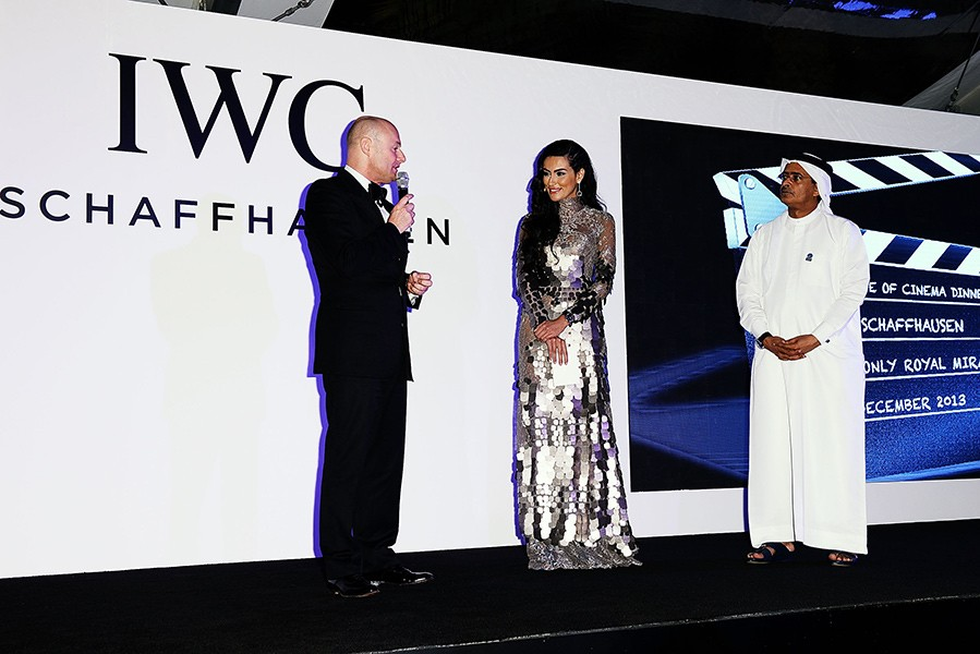 IWC CEO Georges Kern, Diala Makki and DIFF Chairman Abdulhamid Juma